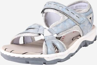 RIEKER Sandalen in hellblau / grau / silbergrau, Produktansicht