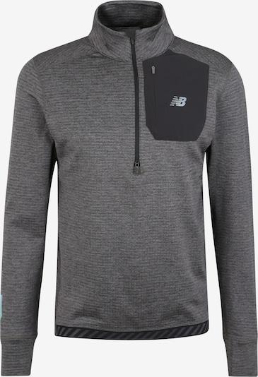 new balance T-Shirt fonctionnel en bleu pastel / gris foncé / gris chiné, Vue avec produit