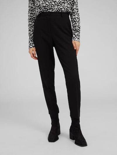Pantaloni eleganți 'Machi' EDITED pe negru, Vizualizare model