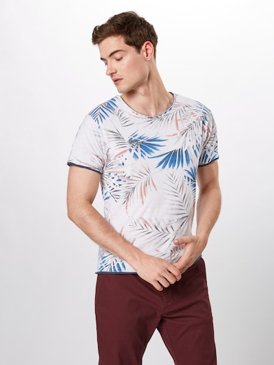 Key Largo Shirt 'MT PALM round' in blau / weiß: Frontalansicht