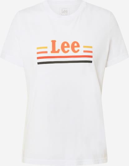 Lee Shirt 'ESSENTIAL SLIM TEE' in de kleur Wit, Productweergave