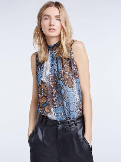 SET Bluse in blau, Modelansicht