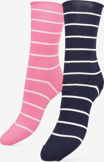 Libertad Socke 'Simple Stripe' in nachtblau / pink / weiß, Produktansicht