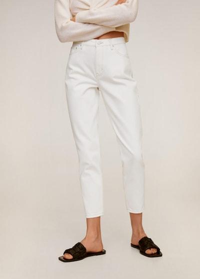 MANGO Mom-Jeans in weiß, Modelansicht