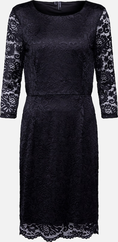 VERO MODA Kleid 'VMSTELLA 3/4 LACE ABK DRESS COLOR' in schwarz, Produktansicht