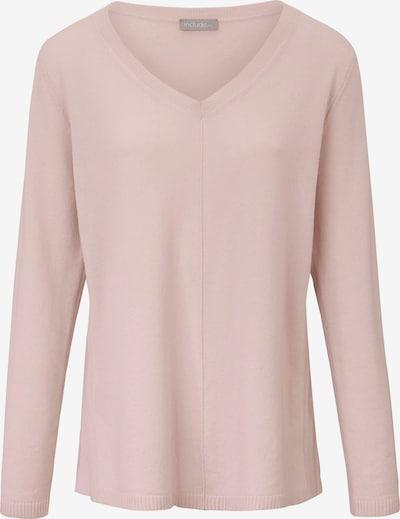 include Kaschmir-Pullover mit V-Ausschnitt in puder, Produktansicht