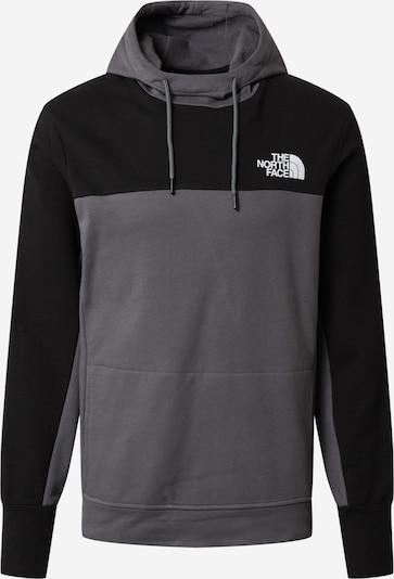 THE NORTH FACE Sportsweatshirt 'M HMLYN HOODIE - EU' in de kleur Grijs / Zwart, Productweergave