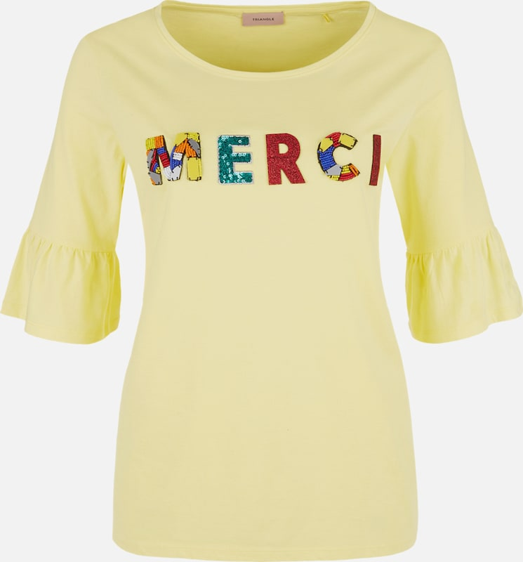 Gelb T Mischfarben shirt shirt T Triangle Triangle Gelb RgfqHY