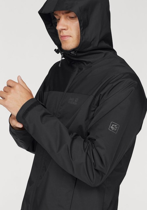 fast delivery offer discounts high fashion JACK WOLFSKIN Funktionsjacke 'ESSENTIAL STORM' in schwarz ...
