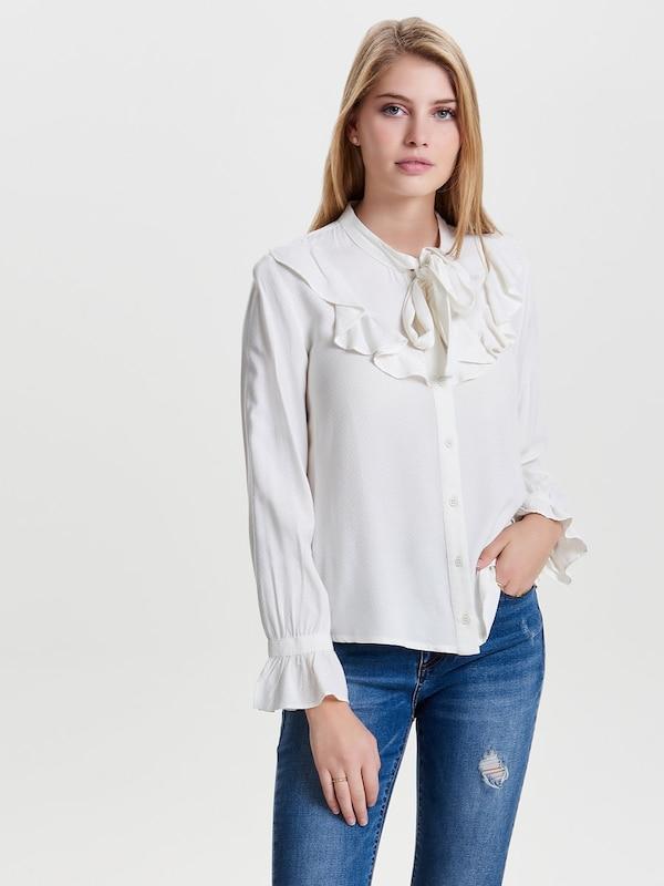 ONLY Rüschen-Langarmhemd