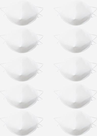 Oderso Stoffen mondkapje '10er Pack' in de kleur Wit, Productweergave