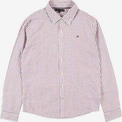 TOMMY HILFIGER Hemd 'DOBBY' in blau / rot / weiß, Produktansicht