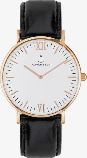 Kapten & Son Uhr in gold / schwarz / weiß, Produktansicht