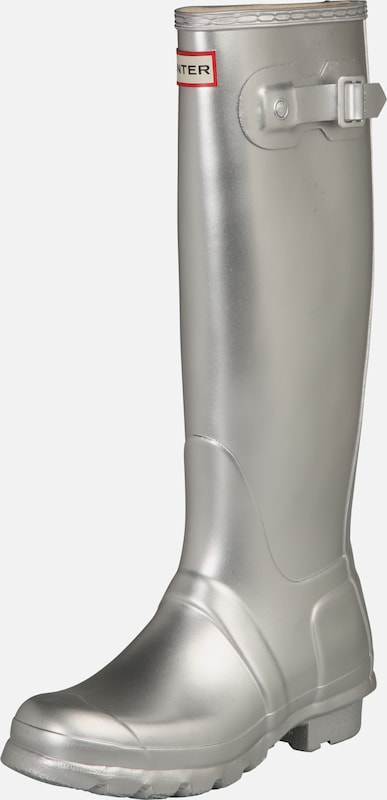 HUNTER Gummistiefel 'Original Tall' in silber, Produktansicht