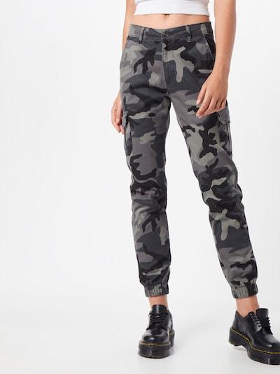 Urban Classics Pantalon cargo en gris / noir, Vue avec modèle