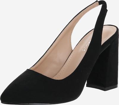 GLAMOROUS Čevlji s peto in s paščki | črna barva, Prikaz izdelka