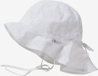 STERNTALER Sonnenhut mit UV-Schutz 15+ zum Binden mit Nackenschutz in weiß, Produktansicht
