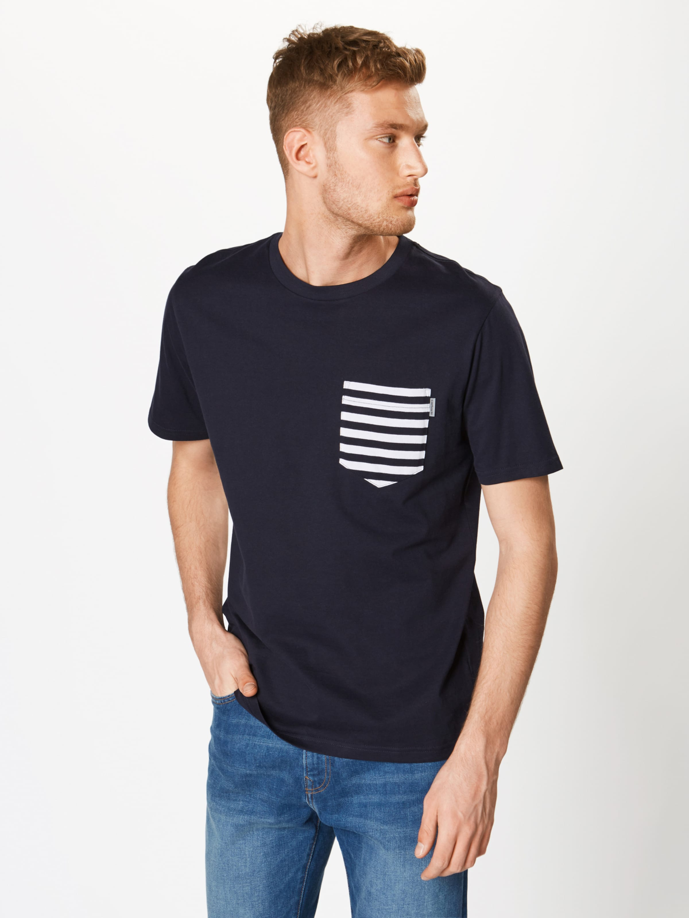T 'contrast NavyWeiß shirt Carhartt Pocket' In Wip 9Y2bEDHIeW