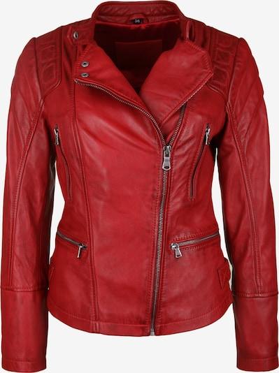 7ELEVEN Lederjacke 'ELENOR' in rot, Produktansicht
