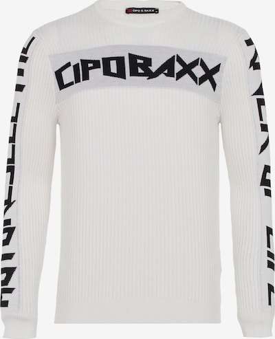 CIPO & BAXX Pullover 'River' in schwarz / weiß, Produktansicht
