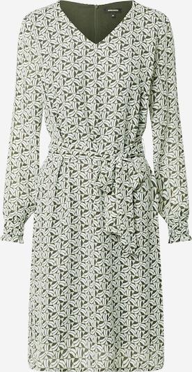 MORE & MORE Kleid 'Graphic' in dunkelgrün / weiß: Frontalansicht