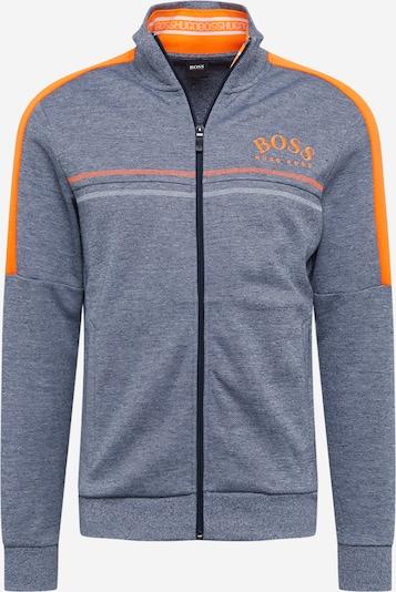 BOSS ATHLEISURE Sweatvest 'Skaz' in de kleur Grijs / Neonoranje, Productweergave