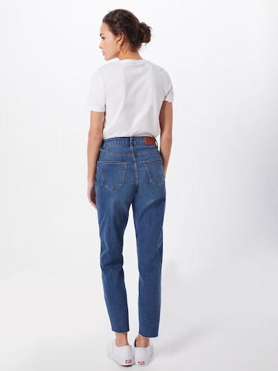 Noisy may Jeans in de kleur Blauw denim: Achteraanzicht