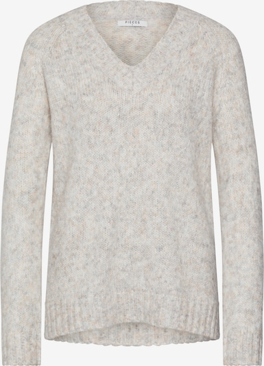 PIECES Pullover 'HOLLY' in grau, Produktansicht