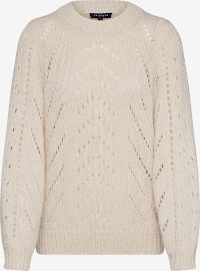 SELECTED FEMME Sweter 'SLFNEMA LS KNIT O-NECK' w kolorze beżowym, Podgląd produktu