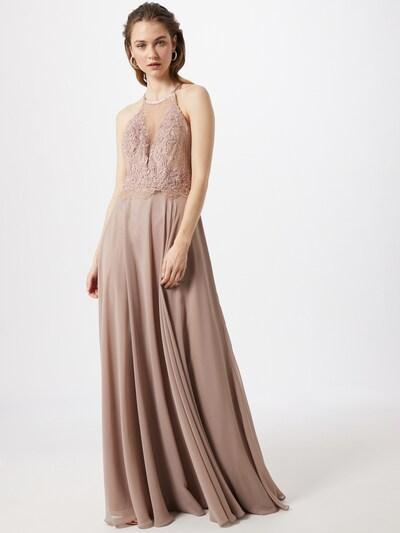 mascara Kleid 'LACE NETT' in taupe, Modelansicht