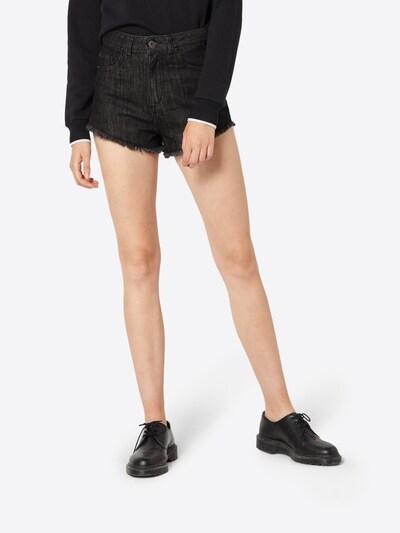 Urban Classics Hotpants in black denim: Frontalansicht