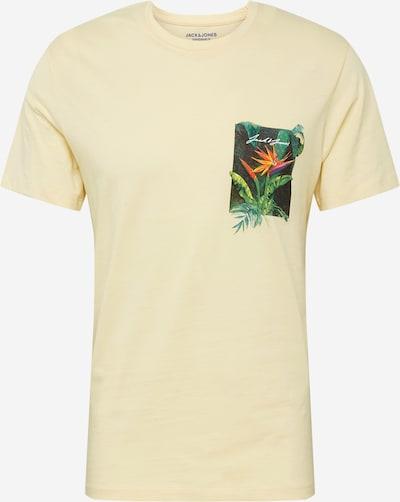 JACK & JONES T-Shirt en jaune clair, Vue avec produit