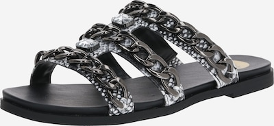 BUFFALO Sandaal in de kleur Antraciet / Zilver / Wit, Productweergave
