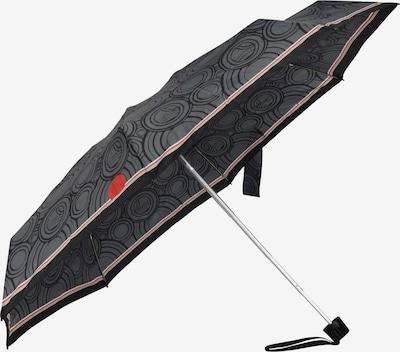 KNIRPS Taschenschirm in grau / dunkelgrau / rot, Produktansicht