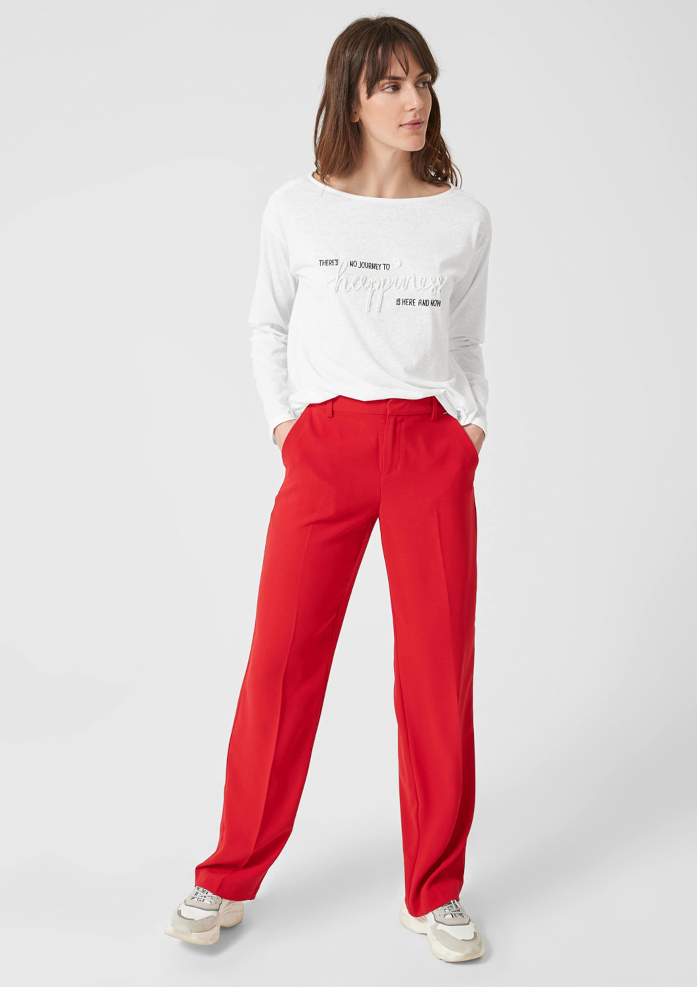 Label oliver Red S In Longsleeve Weiß doCxBe