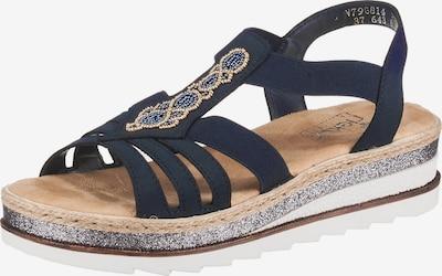 RIEKER Sandalen met riem in de kleur Navy / Donkerblauw / Goud, Productweergave