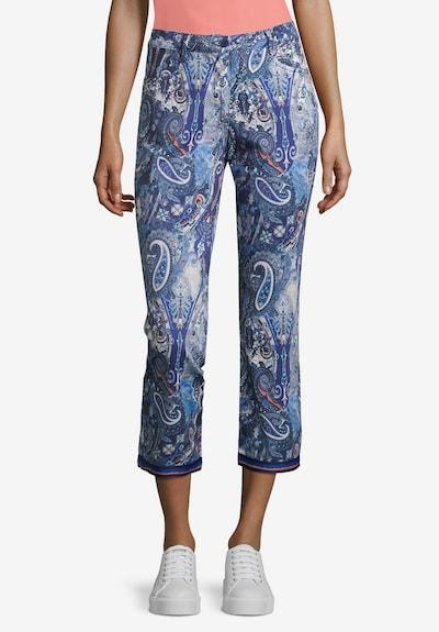 Betty Barclay Basic-Hose mit Aufdruck in blau, Modelansicht