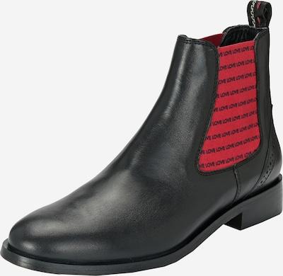 Crickit Chelsea Boots 'Suvi' mit schwarzen Love-Streifen in rot / schwarz, Produktansicht