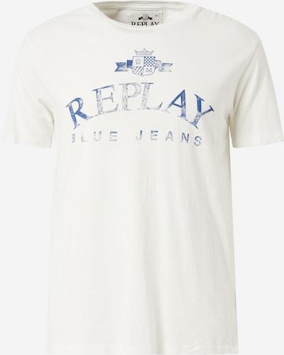 REPLAY T-Shirt in blau / offwhite, Produktansicht