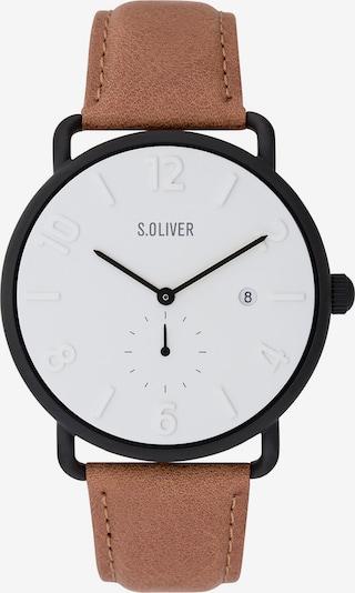 s.Oliver Uhr in braun / schwarz, Produktansicht