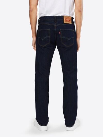 LEVI'S Jeans '501 ORIGINAL FIT' in blue denim: Rückansicht