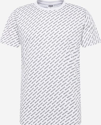 Urban Classics Shirt  'Allover Logo Tee' in schwarz / weiß, Produktansicht