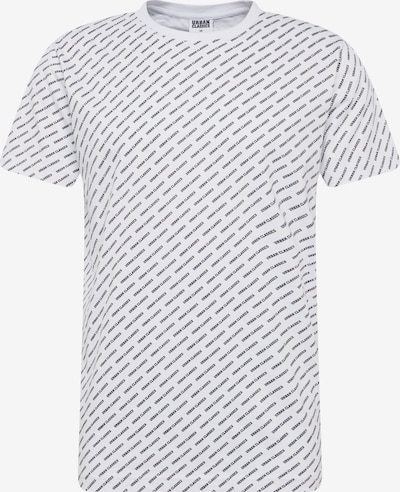 Urban Classics Shirt 'Allover Logo Tee' in de kleur Zwart / Wit, Productweergave