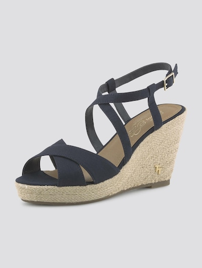 TOM TAILOR Sandalette in navy, Produktansicht