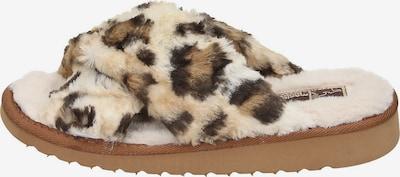 Manitu-Home Damen Pantolette Hausschuhe in naturweiß, Produktansicht