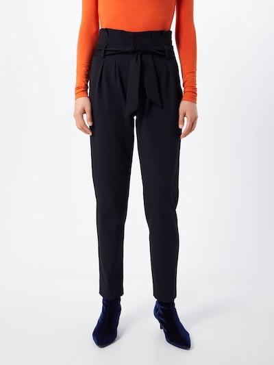 Klostuotos kelnės iš OBJECT , spalva - juoda: Vaizdas iš priekio