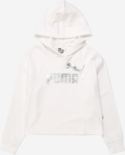 PUMA Sportsweatshirt in silber / weiß, Produktansicht