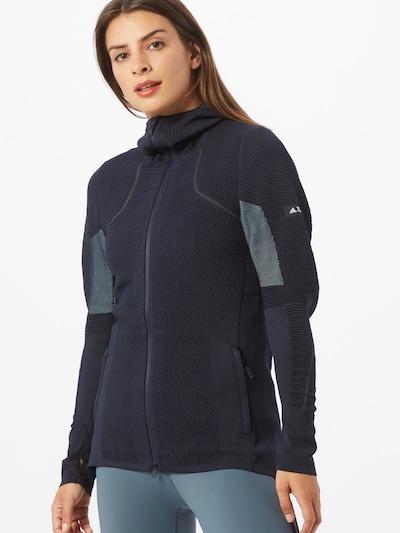 ADIDAS PERFORMANCE Bluza rozpinana sportowa 'W P-Knit Midlay' w kolorze podpalany niebieski / ciemny niebieski / białym: Widok z przodu