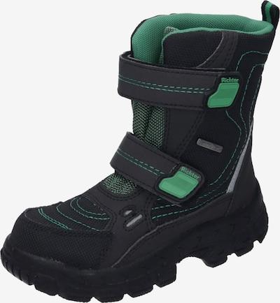 RICHTER Stiefel in grün / schwarz: Frontalansicht