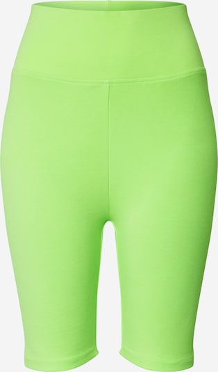 Urban Classics Shorts 'Ladies High Waist Cycle Shorts' in neongrün, Produktansicht